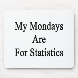 My Mondays Are For Statistics Mouse Pad
