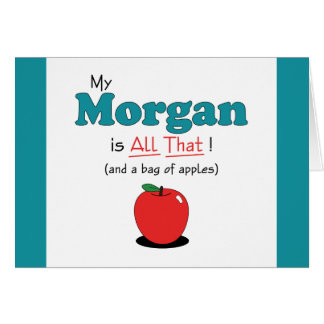 My Morgan is All That! Funny Horse Greeting Card