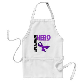 My Mother Always My Hero - Purple Ribbon Aprons