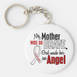 My Mother Is An Angel Lung Cancer Keychains