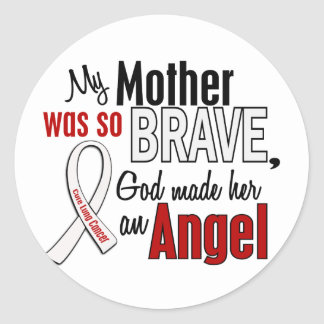 My Mother Is An Angel Lung Cancer Round Sticker