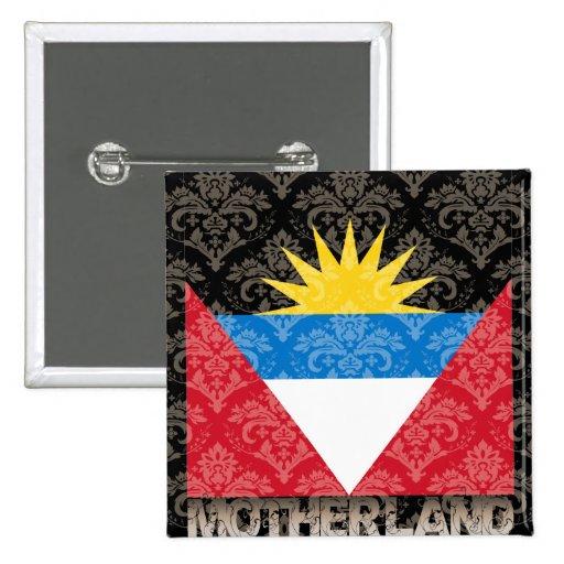 My Motherland Antigua And Barbuda 15 Cm Square Badge