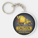 My Mum Drives A Concrete Truck Infant Creeper Basic Round Button Key Ring