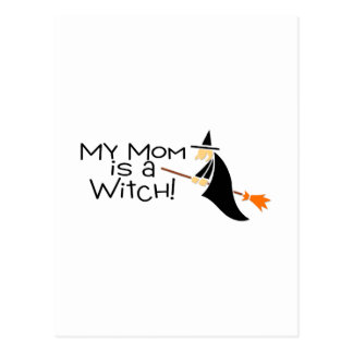 My Mum Is A Witch Postcard