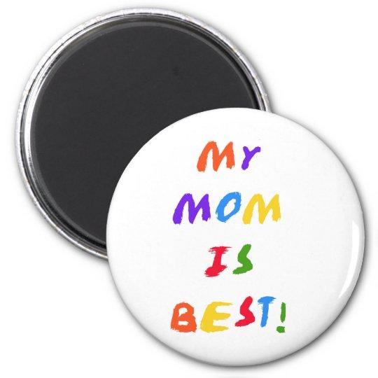 My Mum is Best 6 Cm Round Magnet
