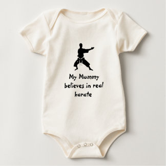 My Mummy believes in real karate Baby Bodysuit