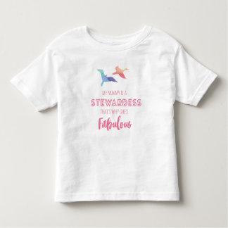 my mummy is a stewardess kids tshirt
