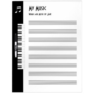 My Music - Musicians Impromptu Music Board (Large)