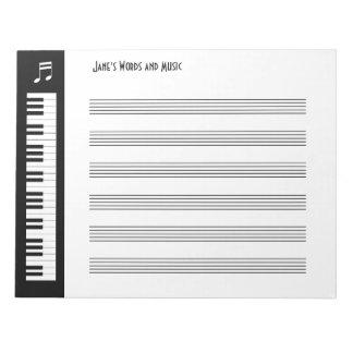 My Music - Musicians Impromptu Notepad