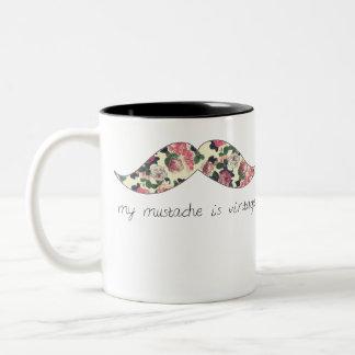 my mustache is vintage mug