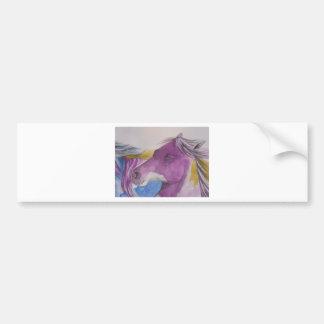 My Mustang Portrait in Pastels Bumper Sticker