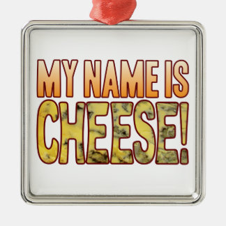 My Name Blue Cheese Silver-Colored Square Decoration