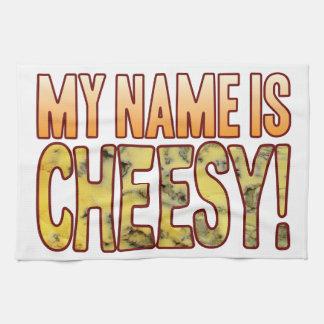 My Name Blue Cheesy Tea Towel