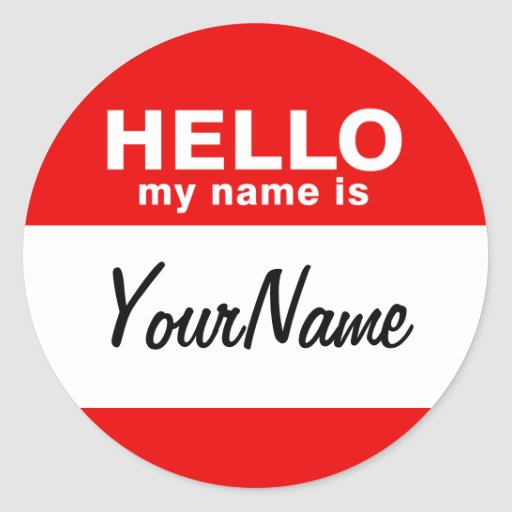 My Name Is Blank Custom Nametag Red (pack of 6/20) Sticker