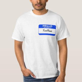 My Name Is Blue Custom Nametag T-Shirt