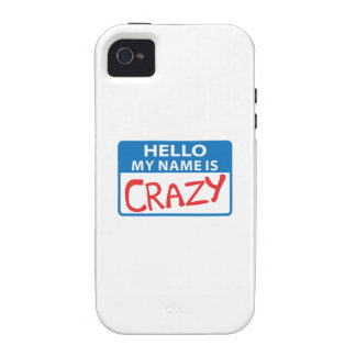 MY NAME IS CRAZY Case-Mate iPhone 4 COVER