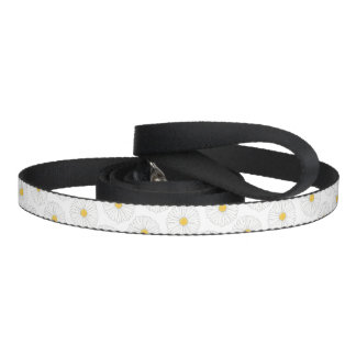 My Name is Daisy Dog White Yellow Flower Floral Pet Lead