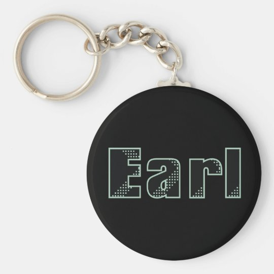 My name is Earl Basic Round Button Key Ring