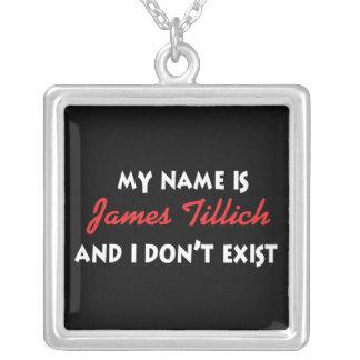 My Name Is James Tillich Square Pendant Necklace