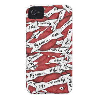 """My name is NO"" Red Lips iPhone 4 Case"