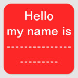 My Name Is Sticker