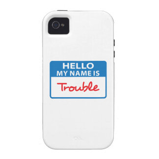 MY NAME IS TROUBLE VIBE iPhone 4 CASE