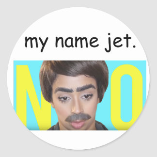 My Name Jet (Liza Koshy) Classic Round Sticker