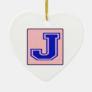 My name starts with J Ceramic Heart Decoration