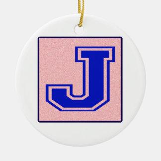 My name starts with J Round Ceramic Decoration