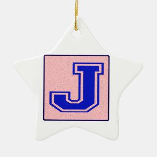 My name starts with J Ceramic Star Decoration