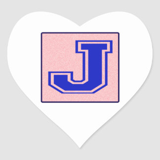 My name starts with J Heart Sticker