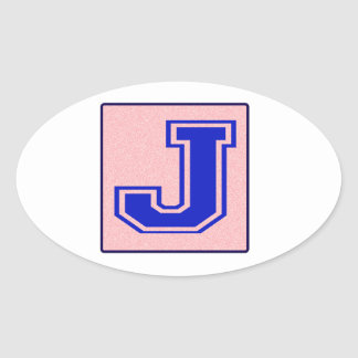 My name starts with J Oval Sticker