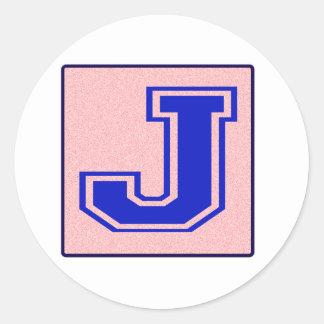 My name starts with J Round Sticker