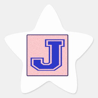 My name starts with J Star Sticker