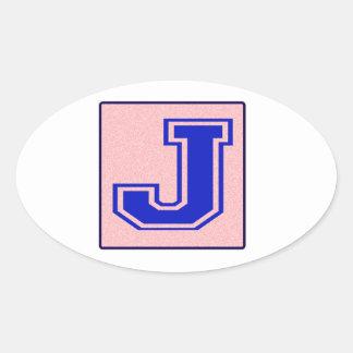 My name starts with J Oval Sticker