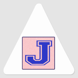 My name starts with J Triangle Sticker