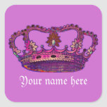 My Name with Crown Sticker