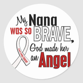 My Nana Is An Angel Lung Cancer Round Sticker