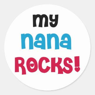 My Nana Rocks Classic Round Sticker