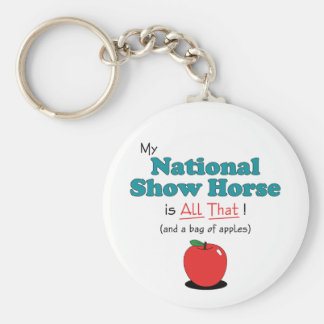 My National Show Horse is All That Funny Horse Key Chain