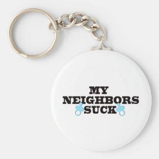 My Neighbors Suck Basic Round Button Key Ring