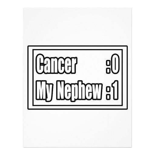 My Nephew Beat Cancer (Scoreboard) Personalized Flyer