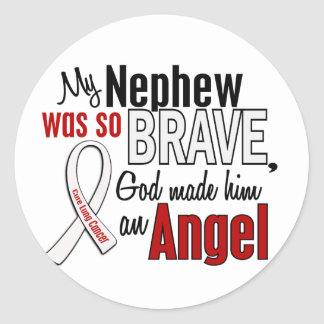 My Nephew Is An Angel Lung Cancer Classic Round Sticker