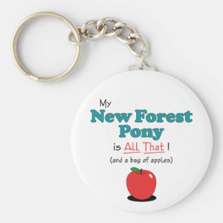 My New Forest Pony is All That! Funny Pony Basic Round Button Key Ring