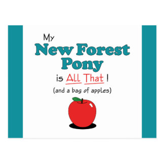 My New Forest Pony is All That! Funny Pony Postcard