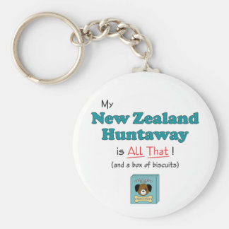 My New Zealand Huntaway is All That! Keychains