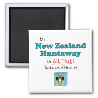 My New Zealand Huntaway is All That! Square Magnet