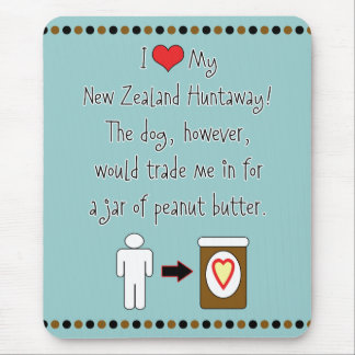 My New Zealand Huntaway Loves Peanut Butter Mouse Mat