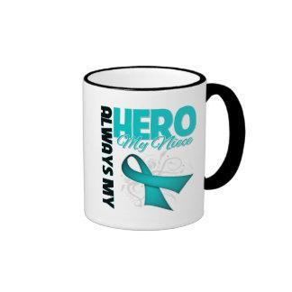 My Niece Always My Hero - Ovarian Cancer Mug