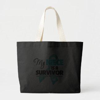 My Niece is a Survivor - Ovarian Cancer Canvas Bag